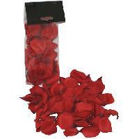 Fantaisie et Humour Petales de roses en tissus rouge