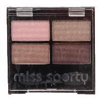 Fard A Paupiere - Ombre A Paupiere Palette d'ombre a paupieres Miss Sporty - Mysterious Smoky - Couleur Quattro 407 - 3.2 g
