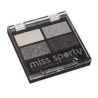 Fard A Paupiere - Ombre A Paupiere Palette d'ombre a paupieres Miss Sporty - Shadow - Blanc. gris. gris fonce et argent Quattro 404 - 3.2 g