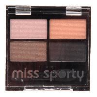 Fard A Paupiere - Ombre A Paupiere Palette d'ombre a paupieres Miss Sporty - Smoky - Couleur ensoleille Quattro 406 - 3.2 g