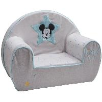 Fauteuil - Canape Bebe DISNEY Fauteuil club dehoussable Mickey My Story - 25 cm - Velours 100 polyester