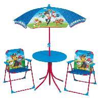 Fauteuil - Chaise Longue - Matelas Gonflable Piscine Fun House Pat Patrouille salon de jardin composé d'une table. de 2 chaises pliables et un parasol pour enfant