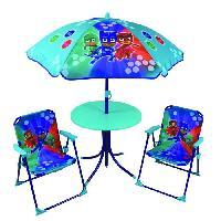 Fauteuil - Chaise Longue - Matelas Gonflable Piscine Fun House Pyjamasques ensemble de jardin ( table. 2 chaises. 1 parasol) pour enfant