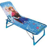 Fauteuil - Chaise Longue - Matelas Gonflable Piscine LA REINE DES NEIGES Bain de soleil pour enfant - Disney Princesses - Fun House