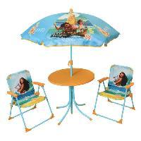 Fauteuil - Chaise Longue - Matelas Gonflable Piscine VAIANA Salon de jardin composé d'une table. de 2 chaises pliables et un parasol pour enfant - Disney Princesses - Fun House