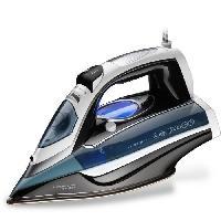 Fer A Repasser - Fer A Reservoir Amovible - Fer A Repasser A Reservoir Xl EVATRONIC 1880 Fer vapeur - Écran LCD - 2200W - Semelle céramique - Blanc et bleu