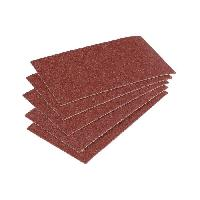 Feuille Abrasive - Papier De Verre - Patin Abrasif - Triangle Abrasif WOLFCRAFT 5 Patins abrasifs corindon - Grain 60 - 70x125 mm