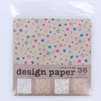 Feuille Decopatch Papier Origami - Vintage - 48 Pieces