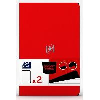 Feuillet Mobile - Copie Double 2 Carnets Pocket Notes agrafes - 9 x 14 cm - 48 pages - Tomate et Noir