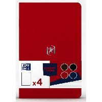 Feuillet Mobile - Copie Double 4 Carnets Pocket Notes agrafes - 9 x 14 cm - 48 pages - Classique