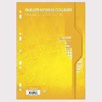 Feuillet Mobile - Copie Double CALLIGRAPHE Feuilles simples couleur Jaune perforees - 210 x 297 mm - 100 pages - Seyes papier Velin Surfin 80 g avec encart
