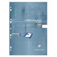 Feuillet Mobile - Copie Double Copies doubles blanches perforees 210X297 200 page Clairefontaine