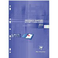 Feuillet Mobile - Copie Double Feuilles simples couleur Perforees 210 x 297 - 200 Pages -90 g