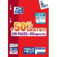 Feuillet Mobile - Copie Double OXFORD - Feuilles simples perforées 300 pages seyes - 90g