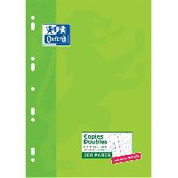 Feuillet Mobile - Copie Double OXFORD 200 Copies doubles perforées - Petits carreaux - 29.7 cm x 21 cm x 0.9 cm