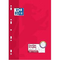 Feuillet Mobile - Copie Double OXFORD Feuille Mobile Perforee 200 pages