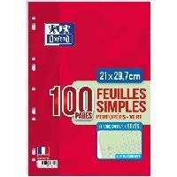 Feuillet Mobile - Copie Double OXFORD Feuilles mobiles A4 Seyes - Vert