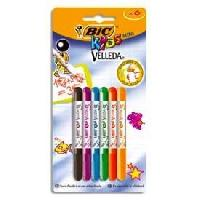 Feutres BIC Kids Mini Velleda Feutres Effaçables a Sec Pointe Conique Fine - Couleurs Assorties. Blister de 6 - Betadine