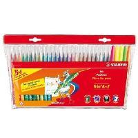 Feutres Etui carton de 30 feutres de coloriage Trio A-Z - Coloris assortis dont 5 fluo