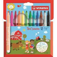 Feutres Etui carton x 12 feutres de coloriage Trio Jumbo