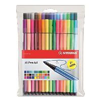 Feutres Pochette de 30 feutres de coloriage Pen 68 - Coloris assortis dont 6 fluo