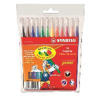 Feutres Pochette souple de 12 Feutres de coloriage Power