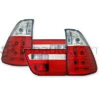 Feux Arrieres 2 Feux Adaptables pour BMW X5 99-03 - 4pcs - RougeCristal - AuCo Generique