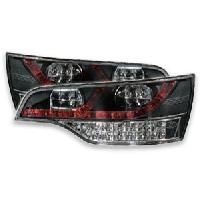 Feux Arrieres 2 Feux Arriere LED pour Audi Q7 rouge et chrome