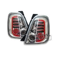 Feux Arrieres 2 Feux Arriere LED pour Fiat 500 chrome