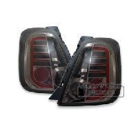 Feux Arrieres 2 Feux Arriere LED pour Fiat 500 noir