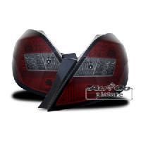 Feux Arrieres 2 Feux Arriere LED pour Opel Corsa D - 06-10 - led rouge fumee Generique