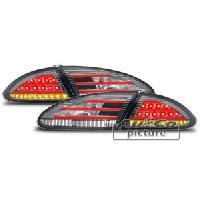 Feux Arrieres 2 Feux Arriere LED pour Seat Leon 05-09 - rouge-noir