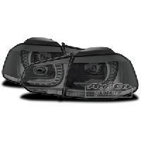 Feux Arrieres 2 Feux Arriere LED pour VW Golf 6 fume noir