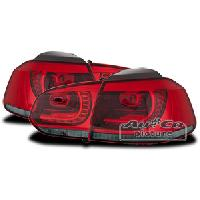 Feux Arrieres 2 Feux Arriere LED pour VW Golf 6 rouge