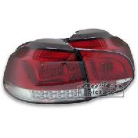 Feux Arrieres 2 Feux Arriere LED pour VW Golf 6 rouge chrome Generique