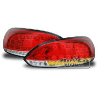 Feux Arrieres 2 Feux Arriere LED pour VW Scirocco III - rougenoir