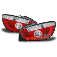 Feux Arrieres 2 Feux Arriere LED rouge chrome compatible avec Seat Ibiza -6J-