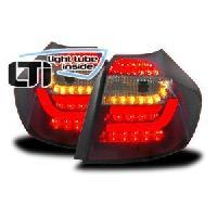 Feux Arrieres 2 Feux Arrieres LTI BMW Serie 1 E87 rouge fumee