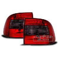 Feux Arrieres 2 Feux LEDS adaptables pour Porsche Cayenne 03-06 - Rouge fume - AuCo
