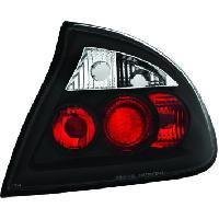 Feux Arrieres 2 Feux Tuning EVO Light Adaptables pour Opel Tigra - Noir Generique