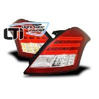 Feux Arrieres 2 Feux arriere LTI pour Suzuki Swift FZNZ rouge - chrome ap10