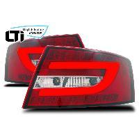 Feux Arrieres Audi Feux arriere LTI LED pour Audi A6 -4F- 04-08 Berline 6 broches -rouge
