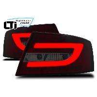 Feux Arrieres Audi Feux arriere LTI LED pour Audi A6 04-08 -4F- Berline 6Pin - rouge fume