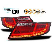 Feux Arrieres Audi Feux arriere LTI avec blinker dynamique pour Audi TT -8J- rouge - ADNAuto