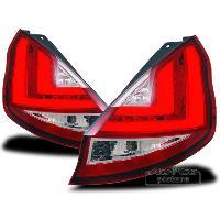 Feux Arrieres Ford Feux arriere LED pour Ford Fiesta MK7 -JA8- Facelift rouge cristal