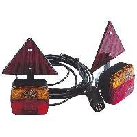 Feux De Remorque SPOTLIGHT Kit Magnétique Entre Feu +  Triangles Réfléchissants - 4 m - Alim 7.5 m - Turbocar