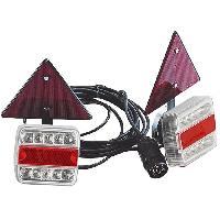 Feux De Remorque SPOTLIGHT Kit magnétique Entre Feu a LED + Triangles Réfléchissants - 4 m - Alim 7.5 m - Turbocar