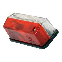 Feux de remorque Feu de Gabarit Led Rectangulaire Rouge Blanc 12V - ADNAuto