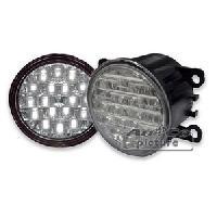 Feux diurnes - DRL 2 Feux Diurnes - 18 LEDs - Ronds - Fonction feux de position - 90x90x69mm - Direct Fit - ADNAuto