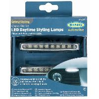 Feux diurnes - DRL 2 Feux Diurnes adaptables - Cruise Lite Diamond - 8 LEDs - Ring